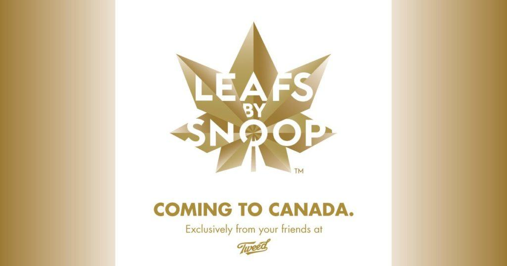 Leafs by Snoop will soon be made available to Canadians by Tweed. (CNW Group/Canopy Growth Corporation)